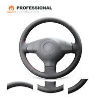 Custom Black Genuine Leather Steering Wheel Cover for Suzuki SX4 Alto Old Swift