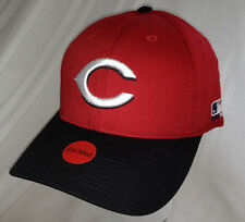 Official MLB CINCINNATI REDS CAP Black Red YOUTH size Sm / Med Embroidered logo