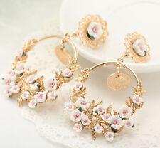 BOHO Woman Jewelry Crystal Rhinestone Ear Drop Dangle Stud Wedding Earrings 32