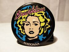 MADONNA BREATHLESS PROMO PIN BACK BUTTON