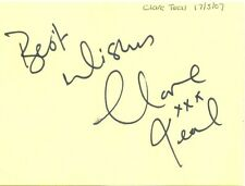 Clare Teal signed autograph album page 2007 English jazz singer Radio 2