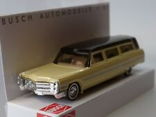 Busch Cadillac Station Wagon, Leichenwagen, gelb - 42920 - 1:87