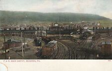 (E) Reading, PA - P & R Railroad Main Depot - Bird's Eye View From Distance