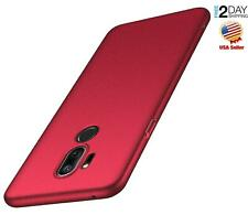 Lg G7 ThinQ Case Slim Minimalist Ultra Thin Fit Nin Slip Matte Surface Red Cover