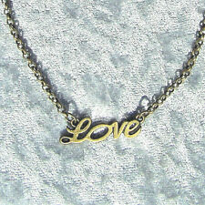 Collier Love Amour Bronze Antique 45 CM Mousqueton Collier