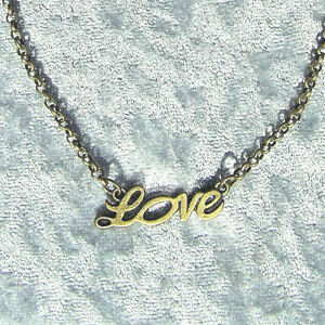Chain Love Antique Bronze 45 CM Carabiner Necklace