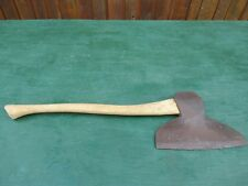 "VINTAGE Broad Axe 12+"" Blade Head Tool Has Wooden Handle"