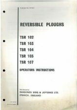 RANSOMES tsr102 tsr103 tsr104 tsr105 tsr107 REVERSIBILE ARATRO operatori manuale