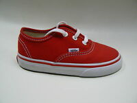 BNIB canvas Vans shoes kids/infants authentic RED/WHITE lots of sizes available