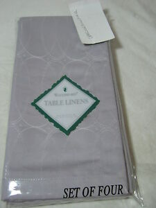 NEW WATERFORD Linen Ballet Icing Oval  NAPKINS SET OF 4 - Orchid- NIP