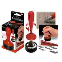 3 IN 1 BAREN KIT LINO BLOCK CUTTER BURNISHING STAMP TOOL & 5 CUTTING BLADES L5B