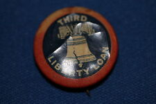"WW1 U.S. HOMEFRONT ""THIRD LIBERTY LOAN"" BUTTON WITH STRAIGHT PIN, MAKER MARKED"
