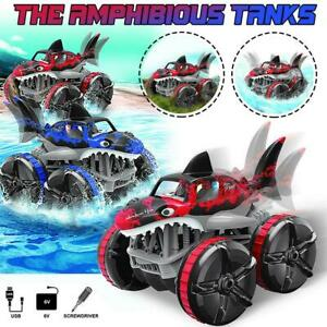 Waterproof Remote Control Grass Land Driving Shark Light RC Car Gift for Kids