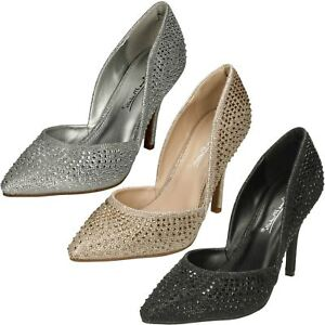 Anne Michelle F9R985 Ladies High Heel Court Shoe  (R10B)