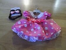Size 6-12 Months Disney Store Minnie Mouse Costume Dress & Ears Headband Pink
