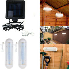 Indoor Outdoor Solar Powered Panel 10LED Garden/Path/Wall Lamp Shed Flood Light