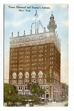 Vintage Postcard TITANIC MEMORIAL & SEAMAN'S INSTITUTE NY South St NYC