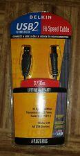 Belkin  USB2 Hi-Speed Cable 3'/.91m A Plug/B Plug Computer Cables new