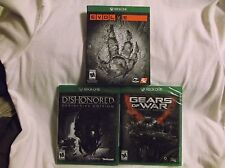 X-Box One. 3 Games-Dishonored-Definitive Ed, Evolve, Gears of War-Ultimate Ed.