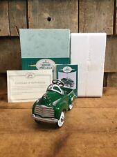 Vintage Nib Hallmark Kiddie Classics 1941 Green Steel Craft Chrysler Gift Car