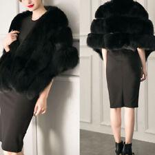 Women Wedding Faux Fur Shawl Stole Wrap Shrug Scarf Cape Party Evening Warm Coat