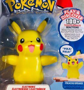 Pokemon My Partner Pikachu Interactive Electronic Figure Sounds 100+ Reactions