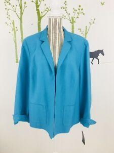 Evan Picone Womens Plus Size 20W Blie Topaz Texture Blazer Jacket Lined