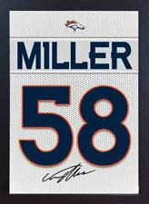 Von Miller Denver Broncos NFL signed Printed on Canvas 100% cotton Framed