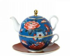 WEDGWOOD Paeonia Blush Blue & Red Tea For One