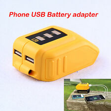 USB Mobile battery charger adaptor for Dewalt 10.8v to 20v slide battery DCB184