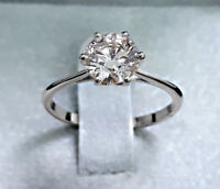 1.05 Ct Round Cut Natural E/VS1 Diamond Solitaire Engagement Ring 14K White Gold