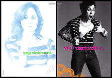 Zooey Deschanel / Pete Wentz - Fall Out Boy 2-page clipping 2006 ad for Gap
