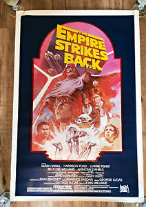 Star Wars THE EMPIRE STRIKES BACK MOVIE POSTER ORIGINAL 1982 RE-RELEASE