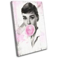 Audrey Hepburn Pop Art Movie Greats SINGLE CANVAS WALL ART Picture Print