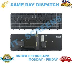 For HP EliteBook 850 G5 755 G3 UK Laptop Keyboard With Backlight & TrackPoint