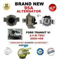 FOR FORD TRANSIT VI 2.4 Di TDCi 2000-ON NEW 95A ALTERNATOR with CLUTCH PULLEY