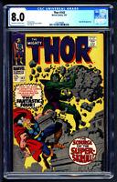Mighty Thor #142 CGC 8.0 STAN LEE Super Skrull Avengers Endgame Captain Marvel