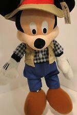 "Fishing Mickey Mouse 15"" Plush Safari Camping Stuffed Animal Disney Parks #St9"