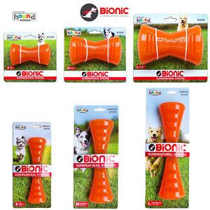 Bionic Strong Tough Orange Dog Chew Bone Stick Outward Hound Floats Enrichment