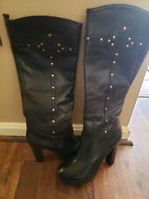 b614e6dd6d91fb New ListingTory Burch women s Leather tall platform gold studded boots