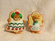 Lucy & Me Bears Christmas Cookies Angel & Bell 1992 Enesco Lucy Riggs