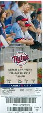 2013 Twins vs Royals Ticket: Eric Hosmer 2 HRs/Billy Butler & Mike Moustakas HR