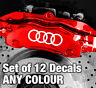 AUDI Rings Quality Brake Caliper Decals Stickers - ANY COLOUR