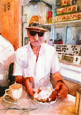 "SIGNED Hand Painted Art FRENCH QUARTER and JACKSON SQUARE, NOLA ""Cafe Du Monde"""