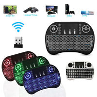 2.4GHz Mini Backlit Wireless Keyboard Air Mouse Touchpad For PC Android TV Box