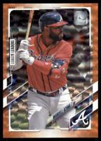 2021 Topps Series 1 Base Orange #220 Marcell Ozuna /299 - Atlanta Braves