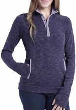 NWT Women's Asphalt/Lavender AVALANCHE Pullover Loma Snap Sweater Size Small S