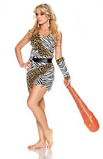 Barbarian Brauty Cavewoman Costume Jungle Jane Halloween Adult Size Large