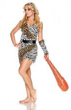 Barbarian Brauty Cavewoman Costume Jungle Jane Halloween Adult Size Medium