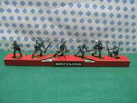 Vintage Britains Super Deetail Bande avec German Infantry - R